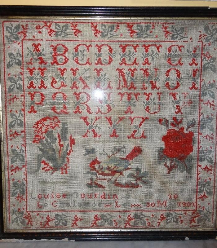 ancien abecedaire louise gourdin art populaire
