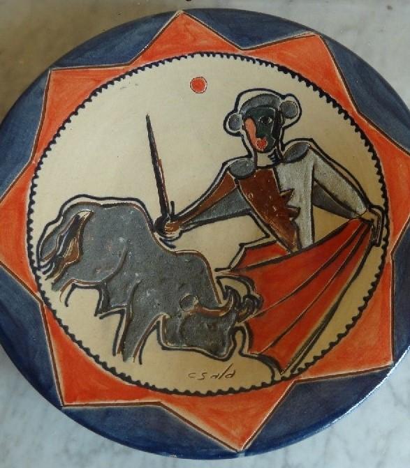 ancienne ceramique sala style picasso