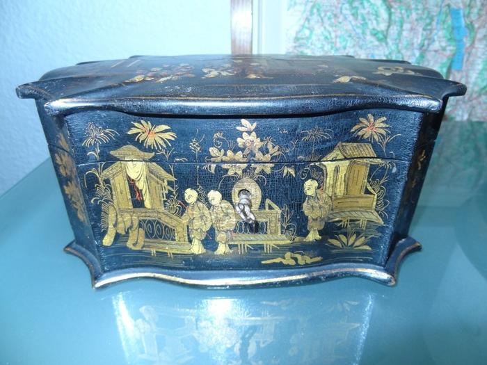 ancienne boîte a thé napoléon III
