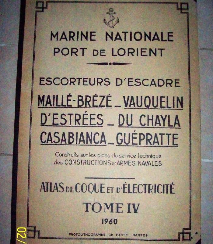 ancien livre marine nationale plans escorteurs bateaux