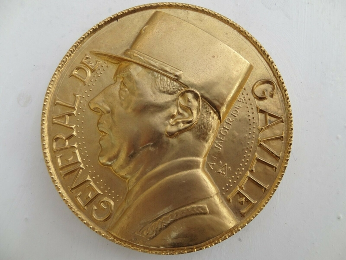 médaille bronze general de gaulle