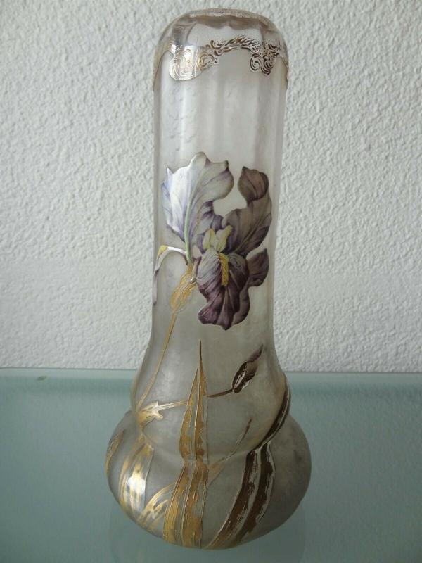vase art nouveau legras iris