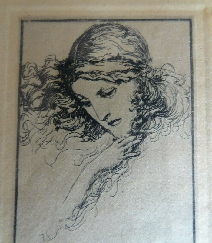 willy pogany art nouveau femme