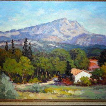 Ancien tableau d'Eugène Sandrini