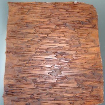 Ancienne matrice en bois pour impression des tissus